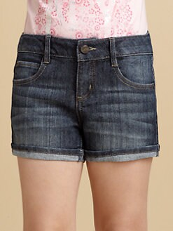 DKNY - Girl's Stretch Denim Shorts