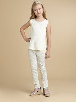 DKNY - Girl's Appliquéd Peplum Top