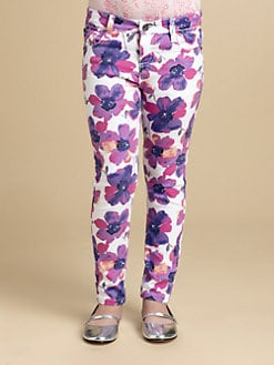 DKNY - Girl's Skinny Floral Jeans