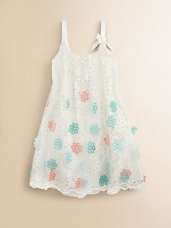 Halabaloo - Girl's Embroidered Floral Dress