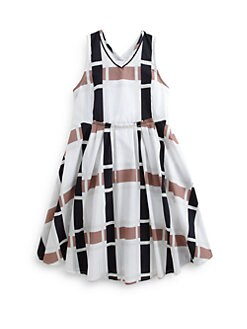 Marni - Girl's Modified Check Print Dress