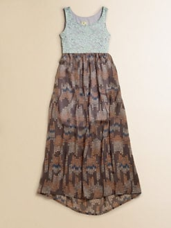 Kiddo - Girl's Mixed-Media Maxi Dress