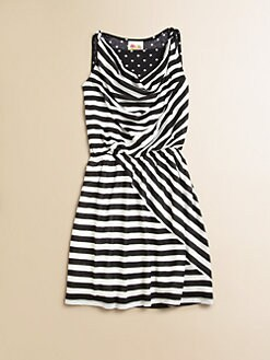 Kiddo - Girl's Striped Dot Dress