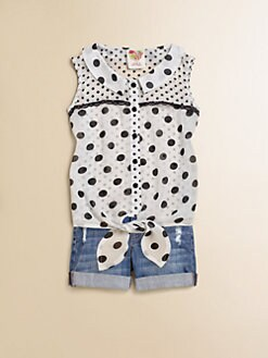 Kiddo - Girl's Polka Dot Top