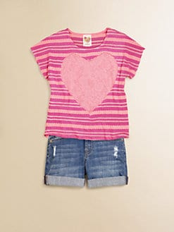 Kiddo - Girl's Bling Heart Top