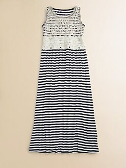 Design History - Girl's Striped Maxi Dress