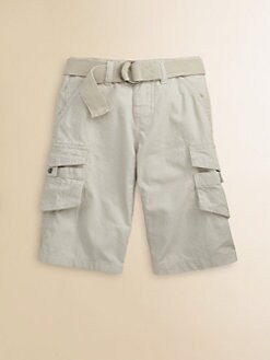 DKNY - Boy's Ripstop Cargo Shorts/Stone