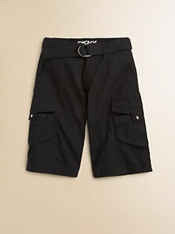 DKNY - Boy's Ripstop Cargo Shorts/Black