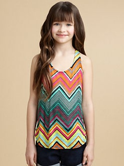 Ella Girl - Girl's Zigzag Tank