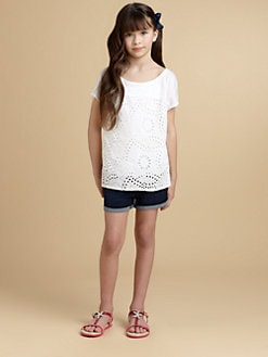 Ella Girl - Girl's Eyelet Top