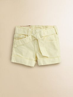 True Religion - Girl's Heidi Overdye Tie-Front Shorts