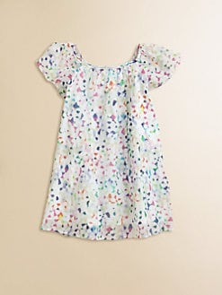 Milly Minis - Girl's Gathered  Confetti Top