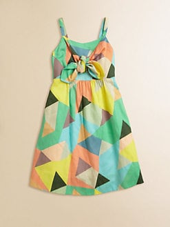 Milly Minis - Girl's Mosiac Print Tie Dress