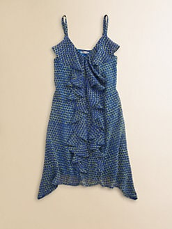 Sally Miller - Girl's Ruffled Dot Dress