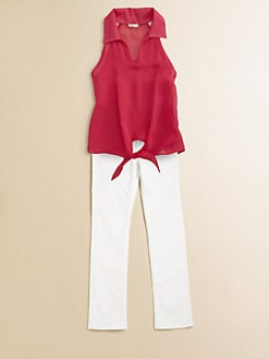 Sally Miller - Girl's Tie-Front Blouse