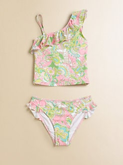 Lilly Pulitzer Kids - Girl's Two-Piece Clemson Tankini Set
