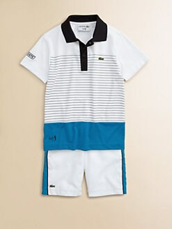 Lacoste - Boy's Andy Super Dry Striped Polo Shirt
