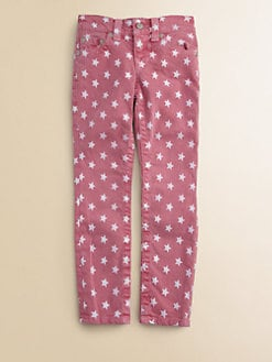 True Religion - Girl's Casey Star Print Denim Leggings/Fuchsia