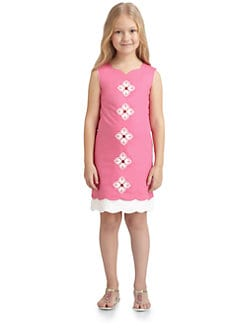 KC Parker - Girl's Scalloped Poplin Dress