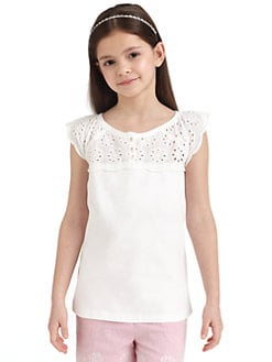 KC Parker - Girl's Eyelet Top