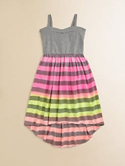 Flowers by Zoe - Girl's Striped-Skirt Sundress