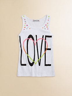Flowers by Zoe - Girl's Love-Print Tank Top