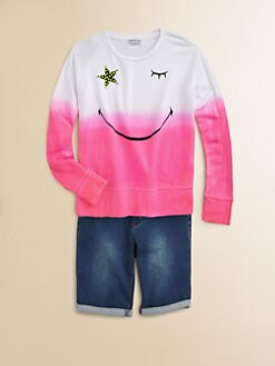 Flowers by Zoe - Girl's Smiley-Wink Sweatshirt