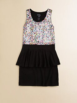 Flowers by Zoe - Girl's Sequined Peplum Dress