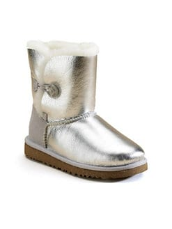 UGG Australia - Infant's, Toddler's & Kid's Metallic Bailey Button Boots