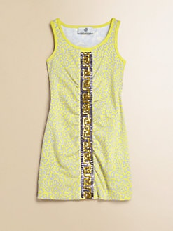 Versace - Girl's Printed Sequin Dress