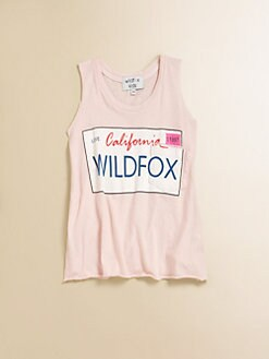 Wildfox Kids - Girl's Charlie Cotton License Plate Tank Top