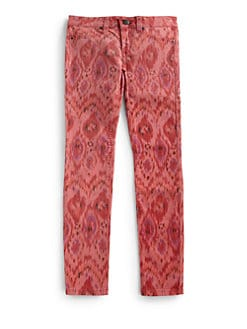 Joe's - Girl's Printed Ikat-Print Denim Leggings