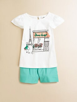 Milly Minis - Big Girl's Eiffel Tower Tee