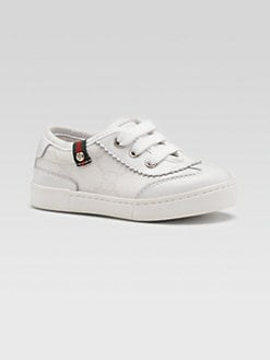 Gucci - Infant's & Toddler's Fabric and Leather Lace-Up Sneakers