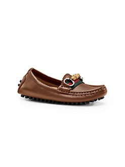 Gucci - Toddler's & Little Boy's Leather Driver Loafers