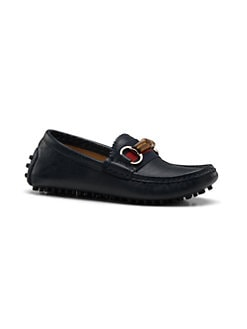 Gucci - Boy's Leather Driver Loafers