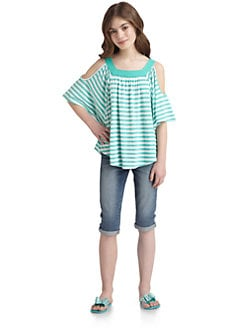 Ella Girl - Girl's Lila Striped Top