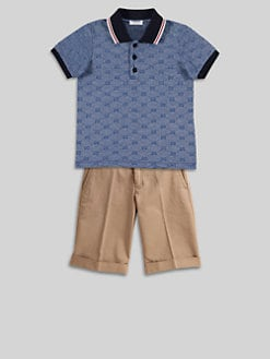 Gucci - Boy's Logo Pattern Polo