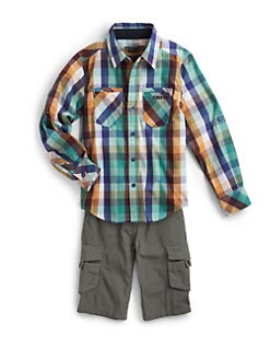 DKNY - Boy's Plaid Shirt