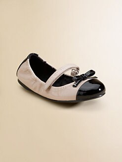 Prada - Toddler's & Girl's Patent Leather Scrunch Ballet Flats