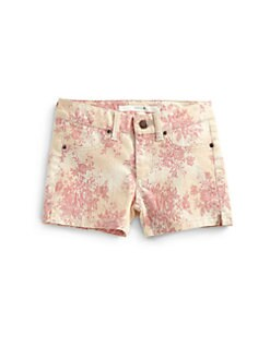 Joe's - Girl's Rose-Print Denim Shorts