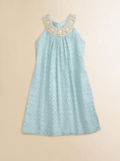 Blush by Us Angels - Girl's Jeweled Trapeze Dress