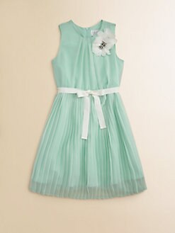 Blush by Us Angels - Girl's Pleated Chiffon Dress