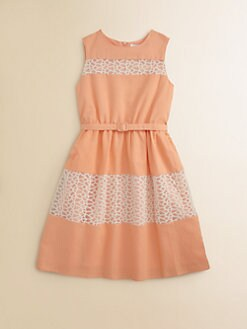 Blush by Us Angels - Girl's Lattice-Lace Dress