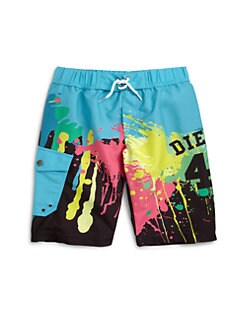 Diesel - Boy's Mulico Paint Splatter Swim Trunks