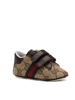 Gucci - Infant's Fabric and Leather Sneakers