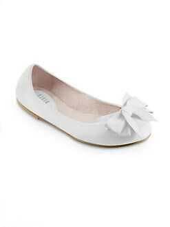 Bloch - Toddler's & Girl's Big Bow Leather Ballet Flats