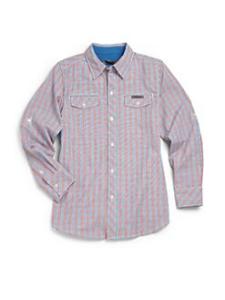 DKNY - Boy's City Skate Check Shirt