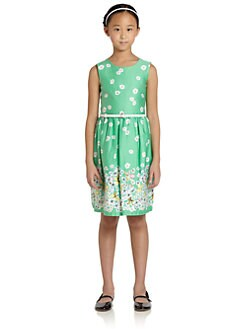 KC Parker by Hartstrings - Girl's Floral Sateen Dress