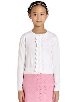 KC Parker by Hartstrings - Girl's Scalloped Cardigan